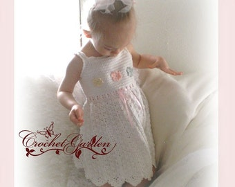 NEW Seaside Fairy Toddler Sundress Sizes 2T - 5 Crochet Pattern