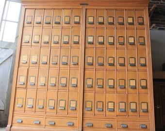 Vintage Tucker File,  Library Card Catalog, Library File, Card Catalogue, Card File