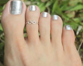 Toe Ring, Toe Rings, Foot Ring, Foot Jewelry, 925 Sterling Silver, Wave Toe Ring, Body Jewelry, Adjustable Toe Ring,
