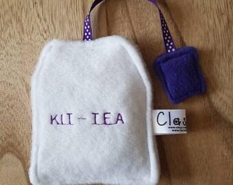 Quirky  catnip crinkle Kit-Tea bag  toy catnip toy uk