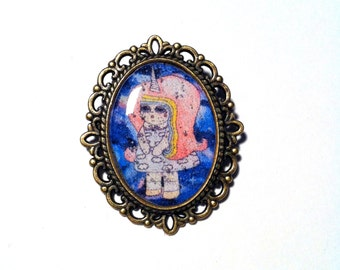 Rayna Unisky - Unicorn in Space Girl Pin