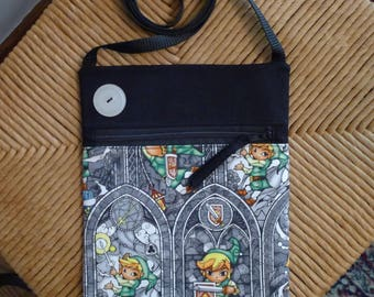Legend of Zelda Crossbody Purse / Bag - Stained Glass Style