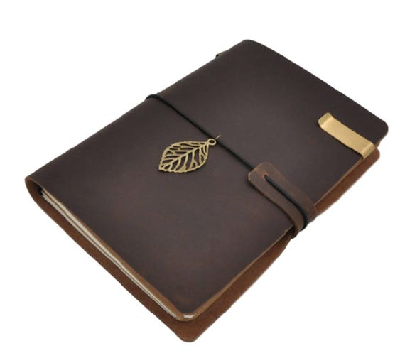 ensemble de carnet de notes de cuir marron style midori. Black Bedroom Furniture Sets. Home Design Ideas