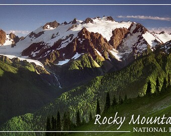 Rocky Mountain National Park - Mountains and Trees (Art Prints available in multiple sizes)