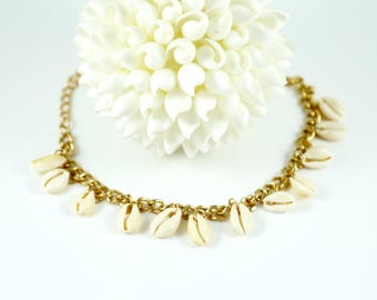 Cowrie Anklet--Cowrie Shell Ankle Bracelet--Shell Anklet