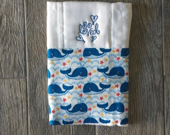 Baby Burp Cloth, Personalized, Embroidered Gift