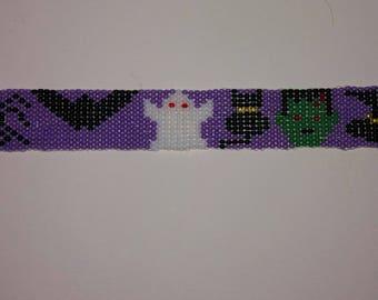 Halloween loom beaded Bracelet