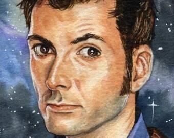 Doctor Who David Tennant 4 x 6 Reproduction Art Print