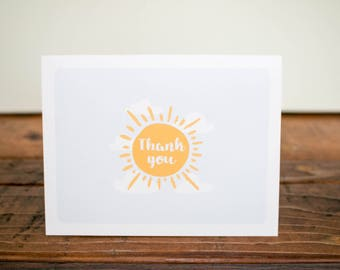 Thank You, You Really Brighten my Day Card/ Thank You Bright Sun Card/ Thank You for Brightening my Day Card/ Thanks/ Bright Day Card