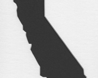 Pack of 3 California State Stencils, Made from 4 Ply Mat Board 18x24, 16x20 and 11x14 -Package includes One of Each Size