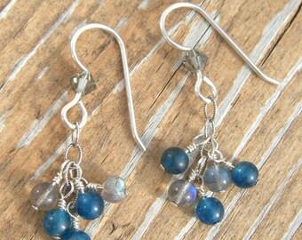Labradorite and Apatite Earrings