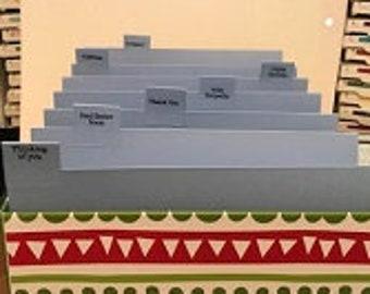 Greeting Card Storage Box with Separators