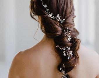 Crystal Bridal Hair Vine   Crystal and Pearl Wedding Hair Vine   Rhinestone Hair Vine   Bridal Halo   Bridal Headpiece   Sienna Hair Vine
