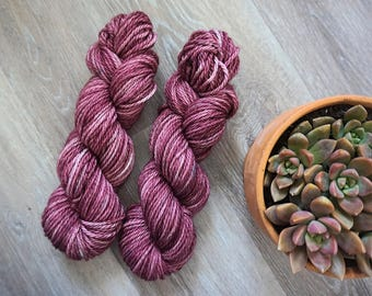 Cherry Soda/ Hand Dyed Yarn/ Plush- Bulky/ 100% Superwash Merino Wool