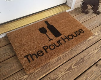 Wine Glass Door Mat - The Pour House