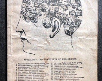 Booklet, 1855 Synopsis of Phrenolgy with Patients Phrenological Reading by Dr. D P Butler, Quack Medicine