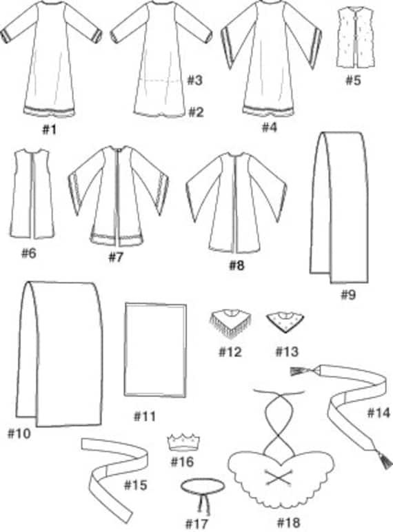 Einfachheit 4795 Muster Erwachsenen Krippe Kostüm Nähschule