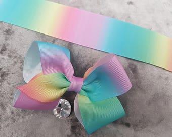 Pastel Rainbow Bow