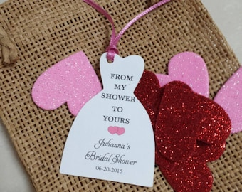 Personalized Favor Tags 2 1/2'', Thank You tags, Favor tags, Gift tags, Bridal Shower Favor Tags, from my shower to yours
