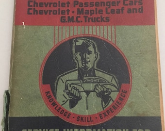 FREE SHIPPING 1941-1942 Reference Manual Chevrolet Passenger Cars, Maple Leaf and GMC Trucks
