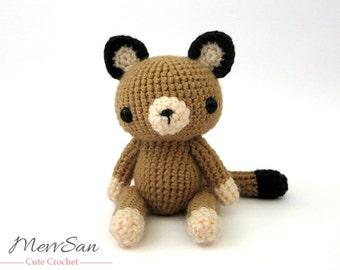 Crochet PATTERN PDF - Amigurumi Woodland Critter Cougar- crochet animal pattern, amigurumi mountain lion pattern, cougar plush toy