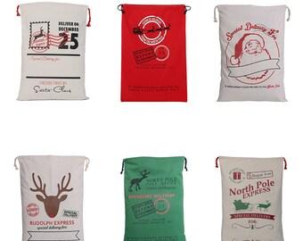 BLANK Santa Sacks, Canvas Sack, Christmas Sacks
