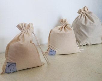 The organic cotton bag for the bulk