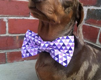 Lavender And Lilac Dog Bow Tie