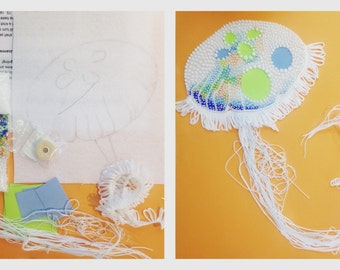 My Jelly Fish Bead Embroidery Kit and Tutorial