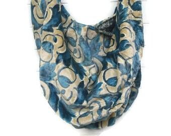 Blue Off-White Velvet Extra Large Bag