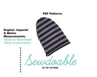 Reversible Beanie PDF Pattern 3/6M- 6/7Y