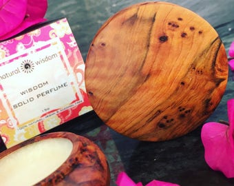 Wisdom. A Solid Perfume by Natural Wisdom. Vegan. Alcohol and Gluten free. 100% natural.