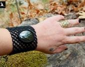 Hematite Macrame Bracelet...