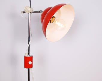 Vintage Red Floor Standing Lamp