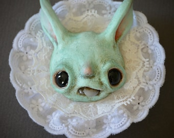 Mint bunny wall hanging