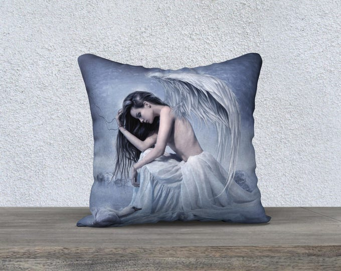 blue Angel fantasy art pillow cover/case accent pillow