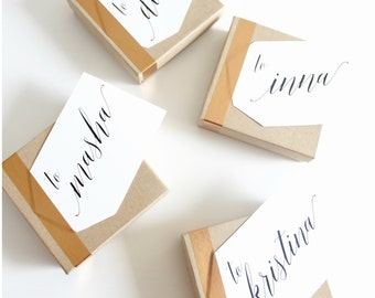 Personalized gift wrap add on - perfect for bridesmaids!