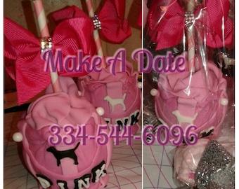 CUSTOM VS PINK candy apples! Victoria's Secret