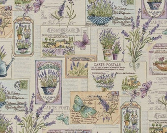 lavender fabric - provence fabric - french decor fabric - jacquard woven fabric - quilting fabric - upholstery fabric - TF-9001