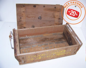 WW2 military ammunition 1943 wooden crate