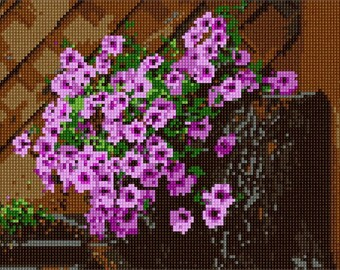 Needlepoint Kit or Canvas: Flowers In Spring
