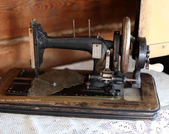 Digital stock photo image old sewing machine home decor interior instant download free usage 1 pc