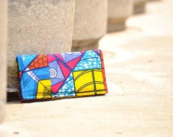 African print wallet