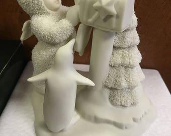 "Vintage Department 56 Snowbabies ""You Didn't Forget Me!"" Retired Figurine #68217"