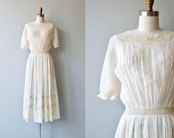 Mirfield Villa dress | 1910s cotton dress | antique Edwardian dress