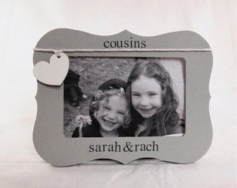 Birthday Gifts for cousin to Cousin picture frame 4 x 6, New Cousin personalized frame for kids