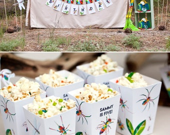 Bugs and Insects Birthday PRINTABLE Party Collection - You Customize EDITABLE TEXT >> Instant Download | Paper and Cake