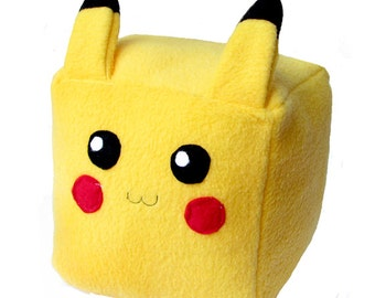 JULY PREORDER Pokemon pikachu cube plushie stuffed animal toy cute decor nintendo geeky nerdy video game square anime character doll