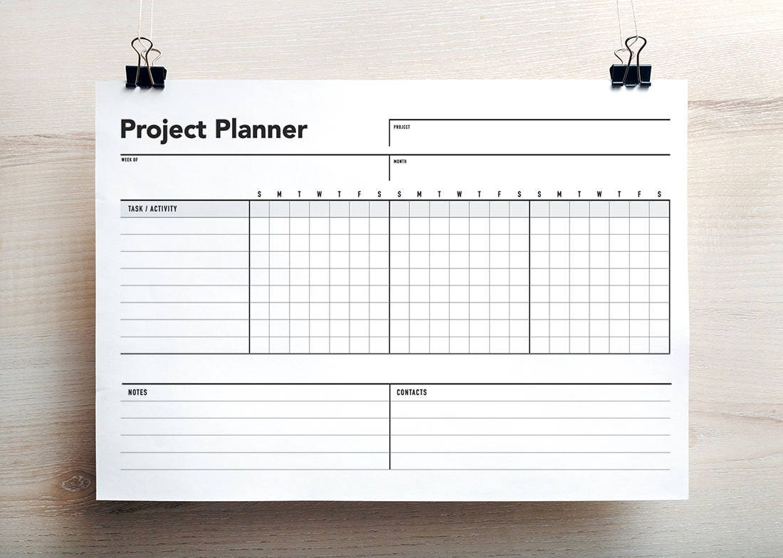 Project planner project schedule gantt chart project zoom nvjuhfo Images
