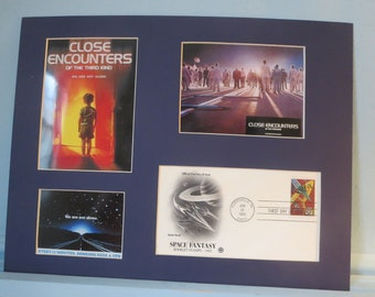 Steven Spielberg's Sci-Fi Classic - Close Encounters of the Third Kind and First Day Cover of the stamp issue to honor Science Fiction